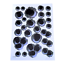 Car Styling 3D Realistic Fake Bullet Hole Gun Shots Car Stickers Decal Vinyl
