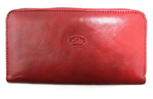 Ladies-Leather-Zipped-Purse-Tony-Perotti-Italian-Leather-Red-TP-2991G