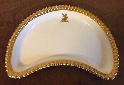 Antique Spode Porcelain Dinner Plate Thomas Goode White /& Gold Armorial Crest