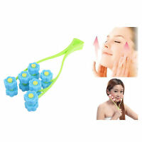 Flower Face Up Roller Massage Slimming Chin Facial Massager Relax Office Blue on sale