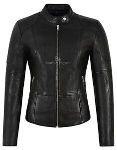 véritable 1452 style classique de Slim pour biker Veste en style Napa noire cuir femmes Fit Eq1U6