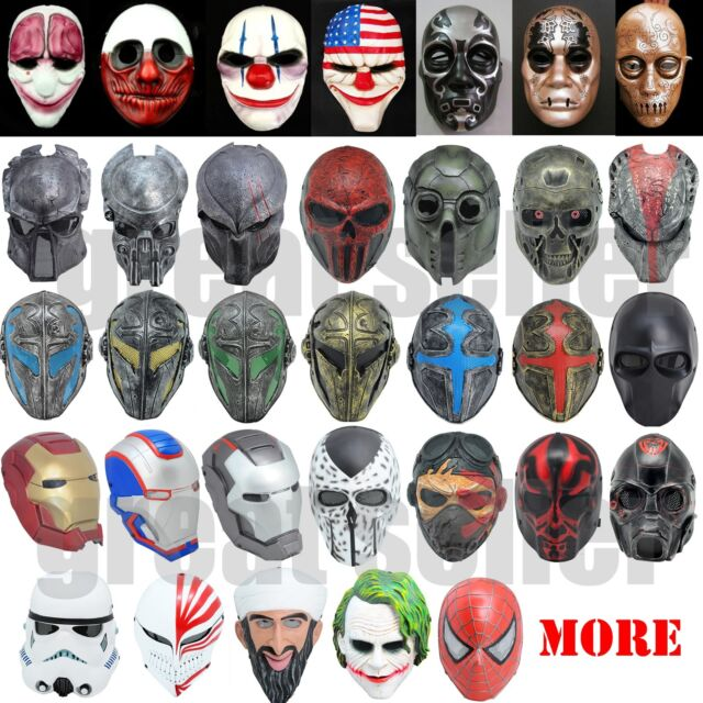 Multiple Mask CS Full Face Protection Cosplay Outdoor Paintball Airsoft Templar