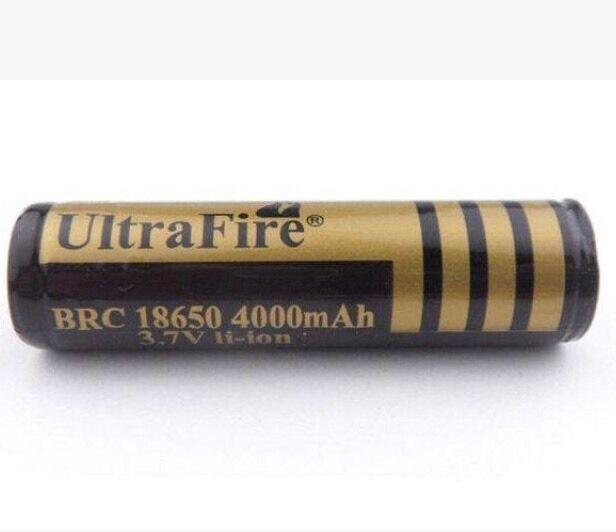Ultrafire 18650 3.7v Li-ion Protected Rechargeable Battery 4000mAh - U.K. STOCK