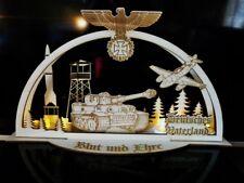 Schwibbogen Deutsches Vaterland Reichsadler Panzer Tiger 1 Lichterbogen Holz 3D
