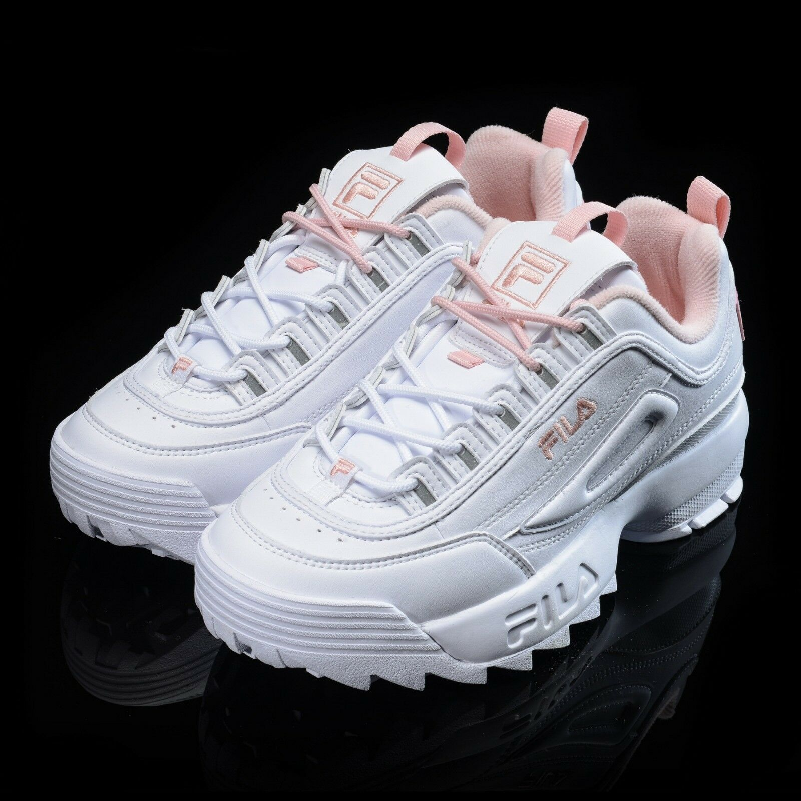 2018 FILA Disruptor II 2 White/Pink Shoes Unisex Comfortable Wild casual shoes