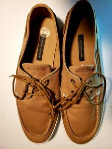 Tommy Hilfiger beige Canvas Boat Shoes