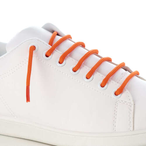 ORANGE ROUND CORD SHOE LACES STRONG THICK ROPE LACE PAIR FOR SPORT TRAINER BOOT