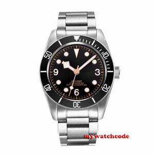 41mm-CORGEUT-black-dial-stainless-bracelet-Sapphire-Glass-automatic-mens-Watch