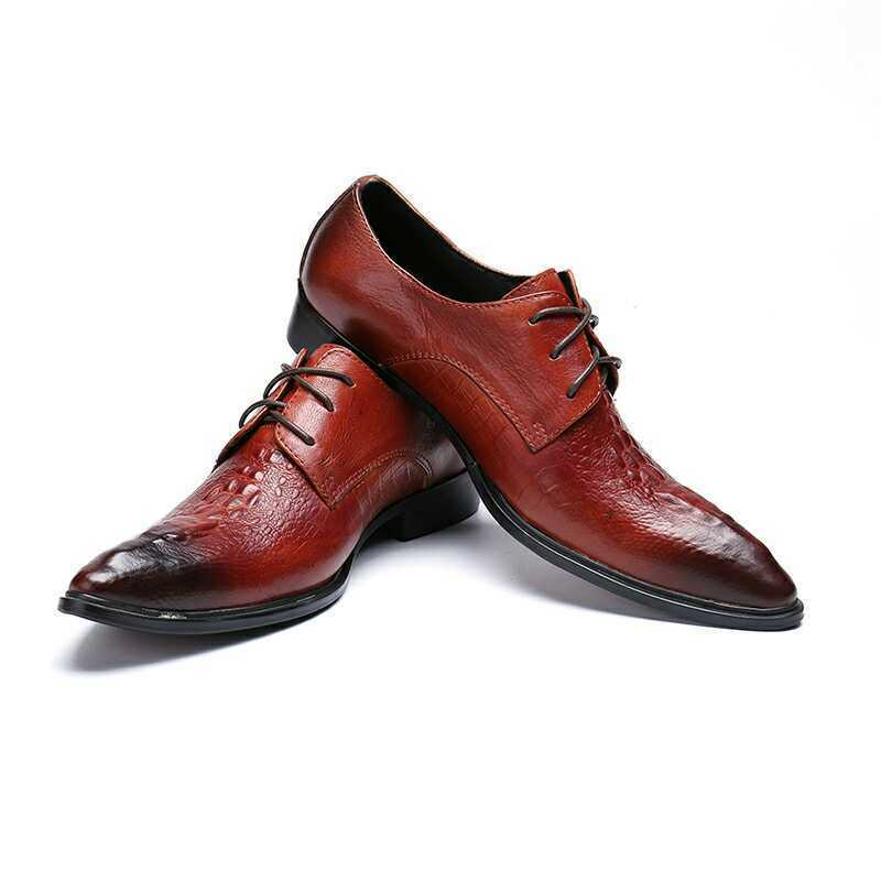 Punk Men's Fromal shoes Leather Business Casual Lace up Loafers Dress shoes 99e
