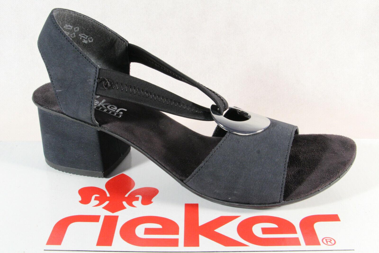 blau NEU 63453 Sandalette Sandale Damen Rieker
