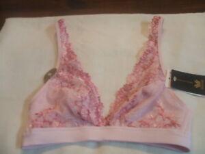 f43b9fd42c8 Wacoal Pink Embrace Lace Soft Cup Wireless J Hook Plunge Bra 852191 ...