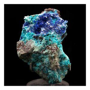 Azurite-Dioptase-Chrysocolle-205-0-Ct-Milpillas-Mine-Sonora-Mexico