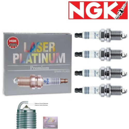 4 pcs NGK Laser Platinum Spark Plugs 2003-2006 Jeep Wrangler 2.4L L4 Kit