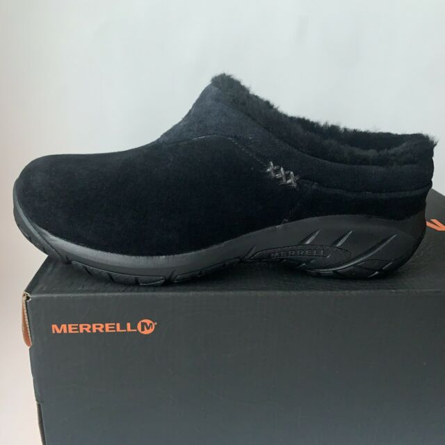 Bloom hail To contaminate  Merrell Encore Ice Black Slip On Shoes Clogs J598440 Sheepskin Womens Sz 6  M for sale online