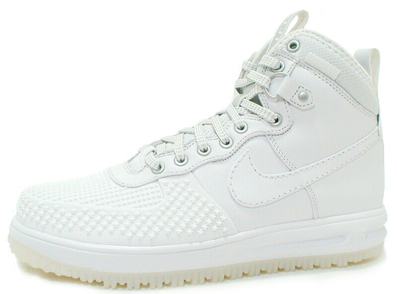 Nike LUNAR FORCE 1 DUCKBOOT Men's shoes 805899-101 WHITE WHITE sz 13