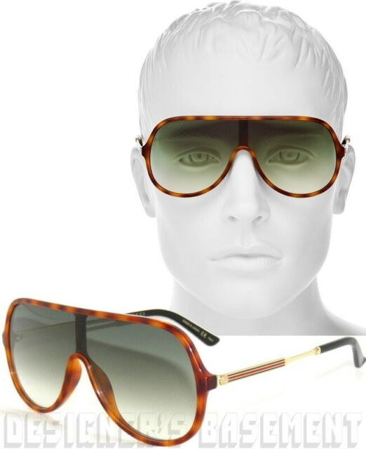 03cd7ce5eed Authentic Gucci Gg0199s 004 Havana Gold GG 0199s Sunglasses for sale ...