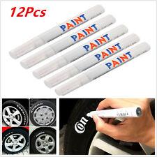 12Pcs White Waterproof Permanent Car Motorcycle Tyre Tire Tread Marker Pens