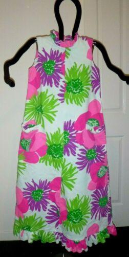 Vtg 60s 70s Malia Honolulu Ribbed Cotton Maxi Dres