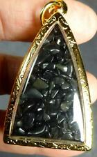 SARIRA PHRA THAT / THAD / TATH BUDDHA RELIC AMULET BLACK G / TEMPLE WAT MAHATHAT