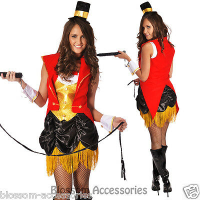 G93 Ringmaster Mistress Circus Lion Tamer Showgirl Fancy Dress Costume Outfit