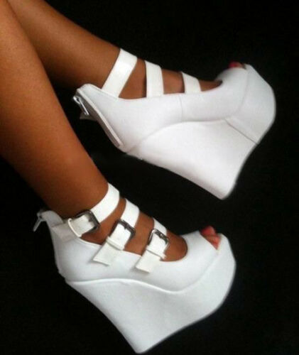 Hoge schoenen Platform N94 Zip dames hak pumps Partij Stijlvolle gesp Wedge wqIHvT