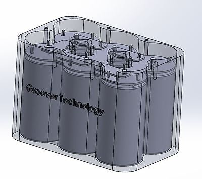 12V super capacitor module 6x 350 farad caps 300A (engine starting, car audio)