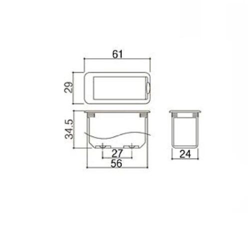 Gotoh Battery Box single 9 volt PBB-04