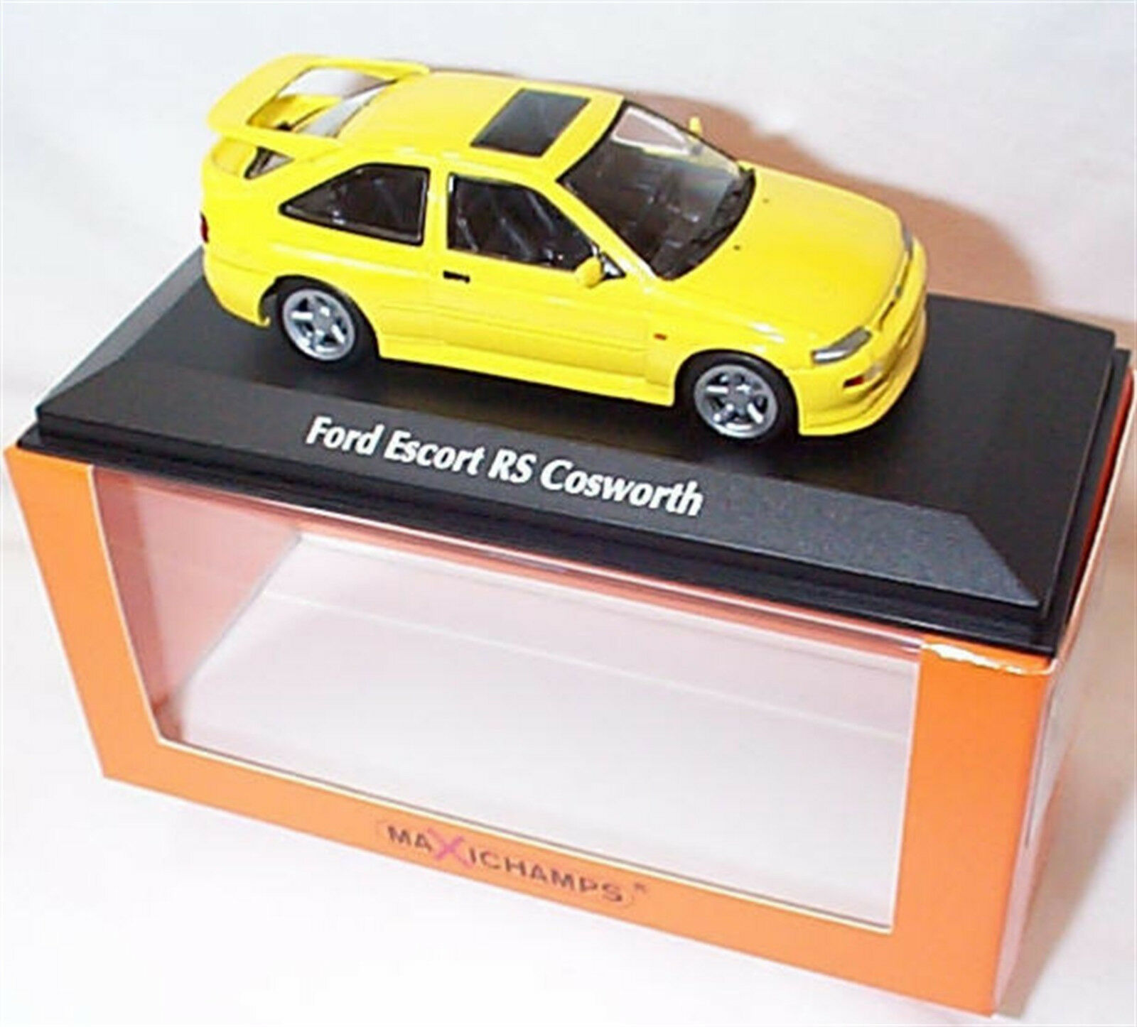 FORD ESCORT RS COSWORTH 1992 jaune new in box 1-43 MINICHAMPS 940082101