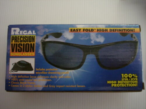 Folding HD Glasses Driver Sunglasses Fold Away With Pouch NEW /& BOXED