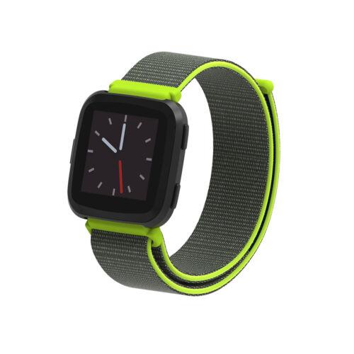 Nylon fibre band Perméabilité Changer de bande Bracelet For Fitbit Versa /& Lite