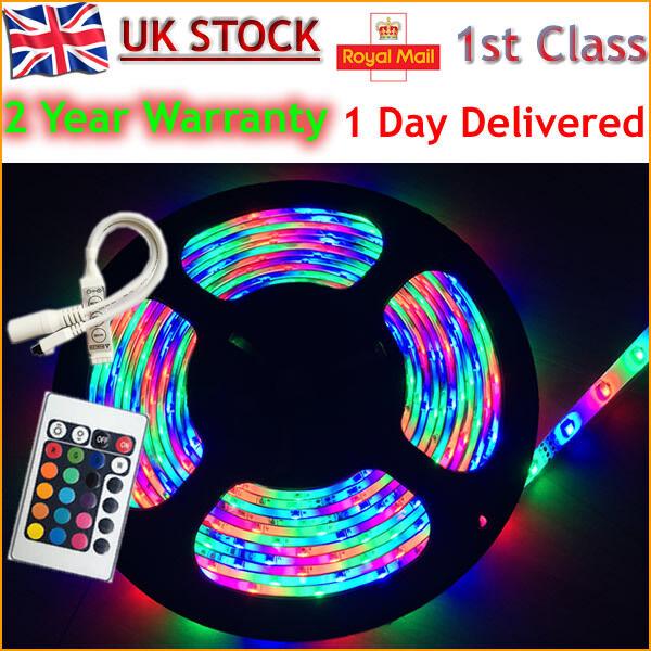 5M 300LEDs 3528 RGB SMD LED flexible strip rope light waterproof Car Home Garden