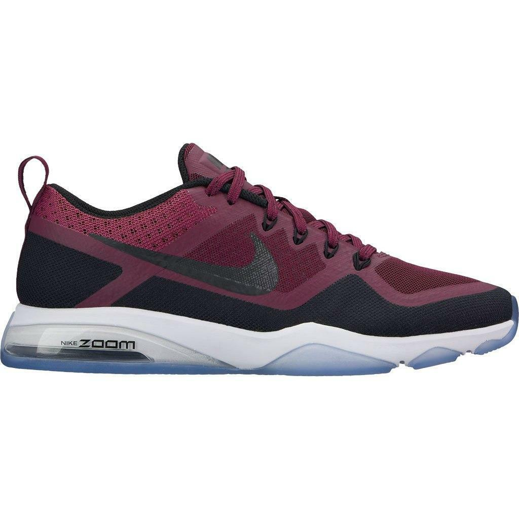 Womens NIKE AIR ZOOM FITNESS Bordeaux Training Trainers 904645 600