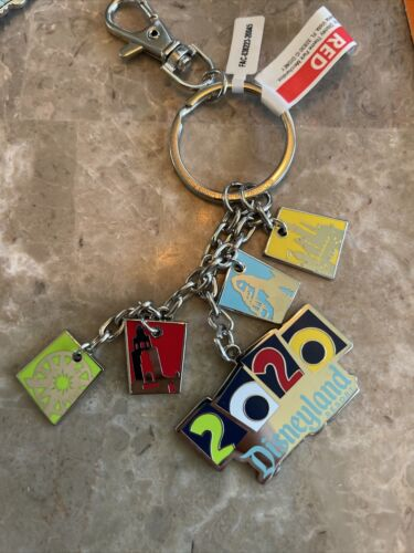 Disneyland Resort Exclusive Dated 2020 Keychain With Charms New