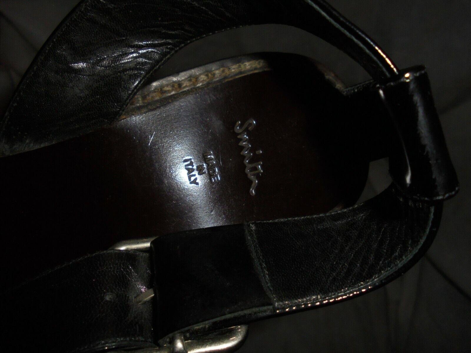 PAUL SMITH WOMEN BLACK LEATHER BUCKLE STRAP STRAP STRAP SANDAL SIZE UK 5  EU 38  VGC c3e020