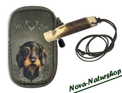 Geschickt Hundepfeife Mit Gürteltasche Rauhhaardackel, Gürteltasche Mit Hundemotiv Dackel