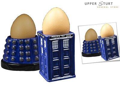 Doctor Who TARDIS /& Dalek Egg Cup Set-IKO0655