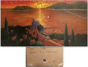 QUADRO-IL-GOLFO-DEI-POETI-LA-SPEZIA-AL-TRAMONTO-731A-Olio-Archiviato-medippolito