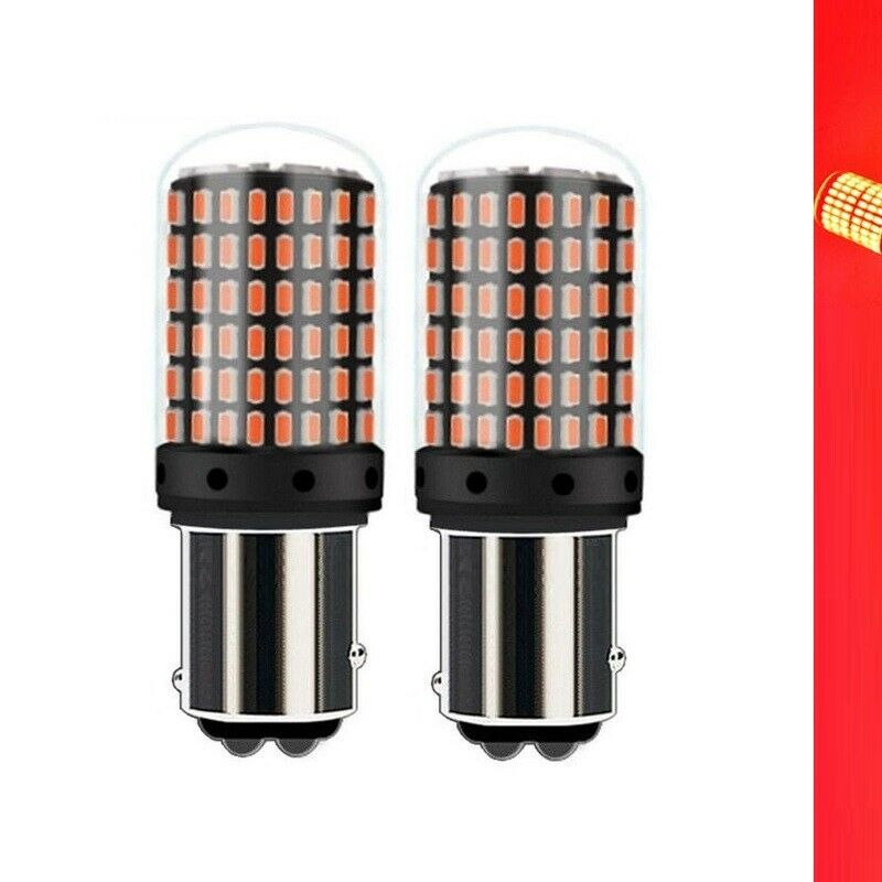 2x AUXITO 1157 BAY15D P21//5W 380 RED LED Brake Stop Tail Light Bulb Super Bright