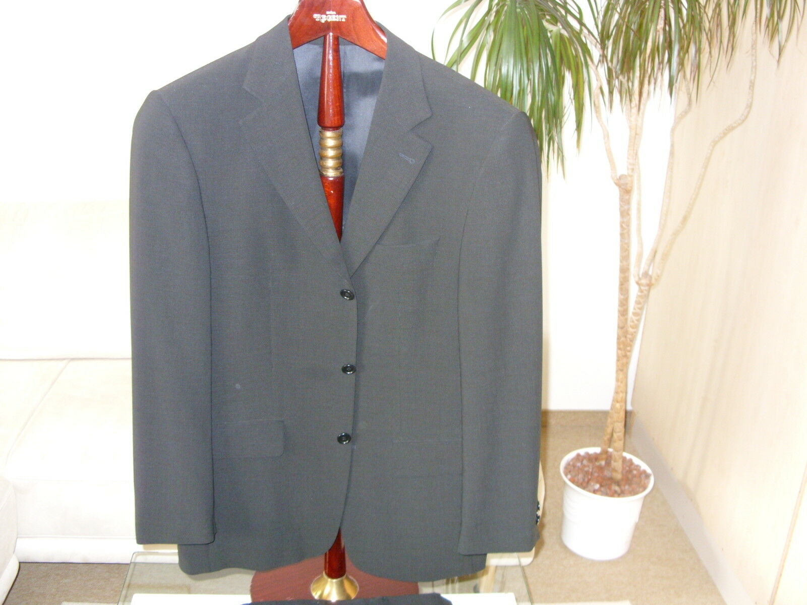 Anzug exklusiv Luigi Botto Gr. 48 schwarz, neuwertig  | Moderne Muster  | Ausgezeichneter Wert  | Deutschland Frankfurt
