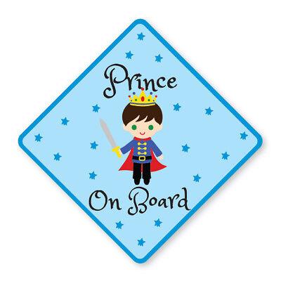 Attento Princecar Sign Adesivo Con La Sicurezza Del Bambino Bambini Bambini-