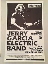 Jerry Garcia Band Santa Rosa BGP Concert Poster 1988