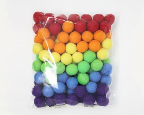 6 different colors Pom Pom Felt Balls home decor Christmas Felted Garland DIY