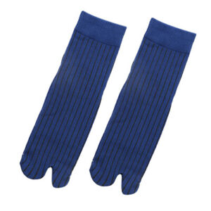 Men-100-Cotton-2-Toe-Socks-Stripes-Tabi-Socks-Hallux-Valgus-Corrector
