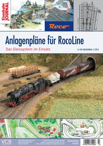 Anlagenpläne für RocoLine 1x1 des Anlagenbaus 3-2018 Eisenbahn Journal