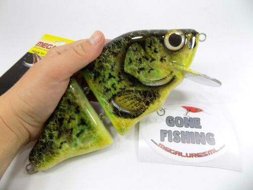 BIG BAIT FOR BIG Musky MegaLures CrankBait Custom Lure Tackle Freshwater Pike