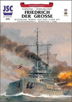 mit Lasercutteilen  JSC 075 Superschlachtschiff H-39  Großdeutschland   ohne