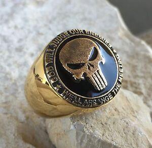 Usmc Punisher Marines Seals Navy Us Army Military Ring