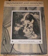 Vintage 1934 Moonlight and Shadows / Jungle Princess Dorothy Lamour Ray Milland