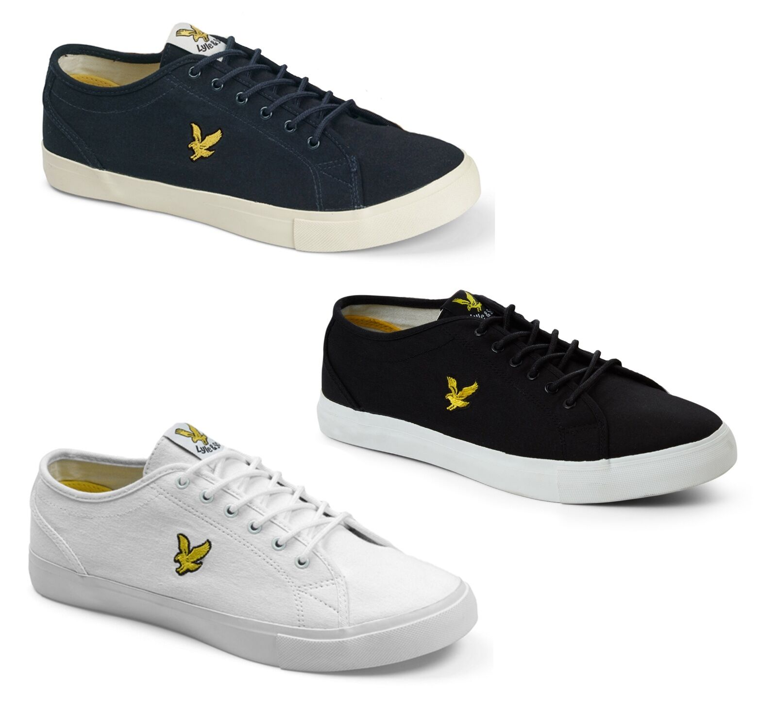 Lyle & Scott Canvas Teviot Twill Fashion Trainers Plimsolls Schuhes Yellow Eagle Trainers Fashion c17856
