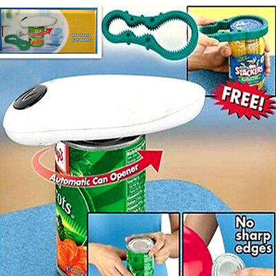 Fun Automatic Opener Electric One Touch Auto Can Jar Tin No Hand Battery Operted